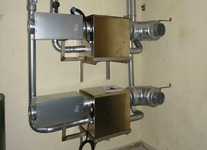 Adsorptionsaffugtere installeret i Bunkermuseum Hanstholms ventilationsrum