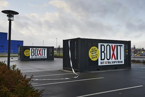 Container til opbevaring af fyrværkeri