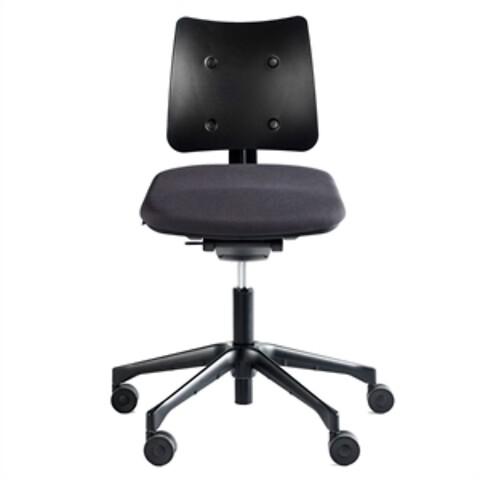 Labofa fox air 6211. sort sæde med plastic ryg - ny