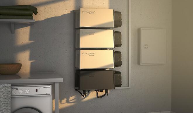 Solarwatts solcellebatterier kan sættes sammen i moduler af 2,4 kWh