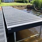 Badebro, vedligeholdelsesfri, sø, bade, vand, bro, plastplanker, genbrug