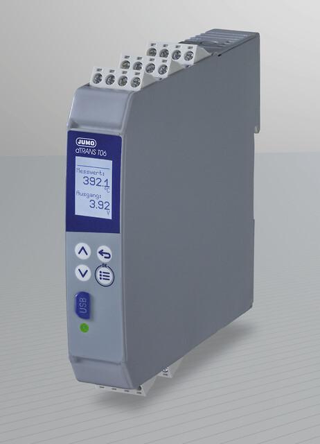 Firetrådstransmitter med SIL-funksjon- JUMO dTRANS T06 - firetrådstransmitteren, SIL, RTD-temperaturfølere