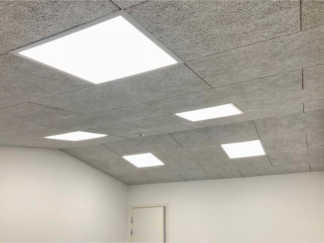 LED panel til Troldtekt lofter
