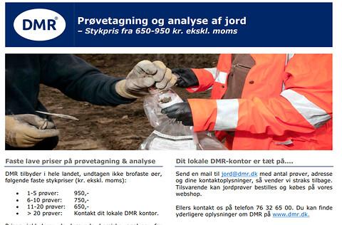 Jordprøver, inkl. miljøanalyse - faste lave priser fra 650-950 kr ex. moms pr. styk