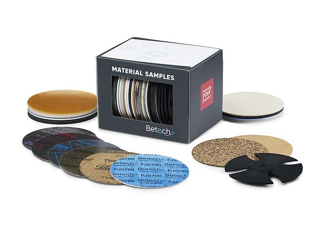 Gratis sæt med 42 prøver på pakningsmaterialer og støbt gummi - fra Betech