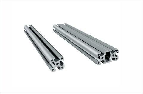 Universalprofil PU 25 / PU 50 i natur eloxerad aluminium för uppbyggnad av skyddshuv och ramar - #skyddshuv\n#skyddsvägg\n#rumsdelare\n#skydda mot stänk\n#isel\n#solectro\n#maskinhuv\n#bygg in maskin\n#plexiglas\n#konstruera