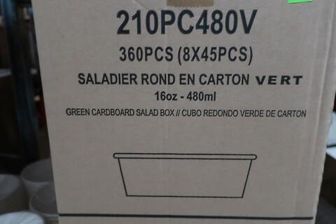 2160 stk. rund grøn salatboks firstpack 210PC480V