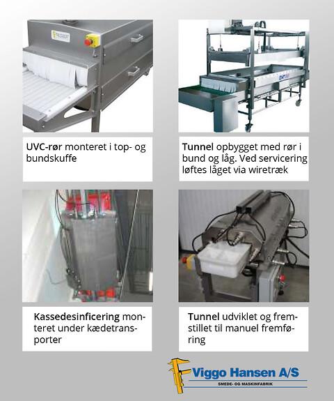 UVC-tunnel og emballage- og produktbelysning