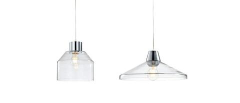 Unika LED-hänglampa av glas till vardagsrum eller restaurang