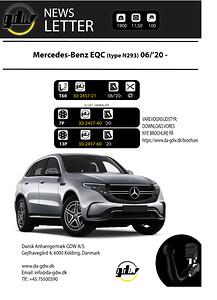 Mercedes EQC  (N293) aftageligt anhængertræk fra Dansk Anhængertræk GDW