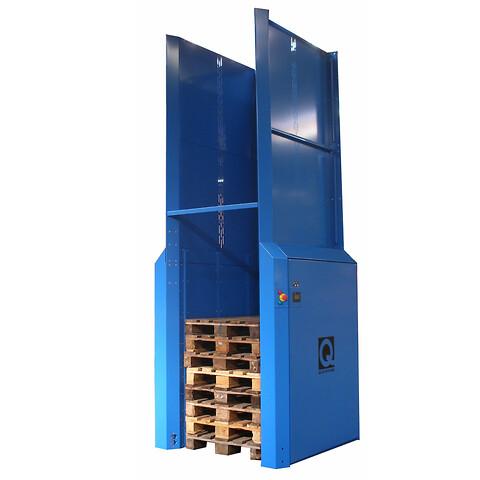 Elektrisk pallemagasin PallEvator Q1 HEAVY til automatisk stabling og/eller nedstabling af paller - Elektrisk pallemagasin til 25 paller