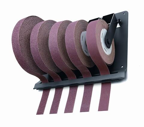 Rulleholder med afrivningskant inkl. 5 smergelruller  - VSM, rulleholder, smergelruller, kantafrivning, slibning, slibematerialer, slib,