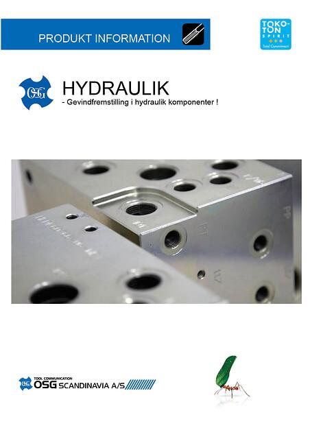 Gevindfremstilling i hydraulik komponenter