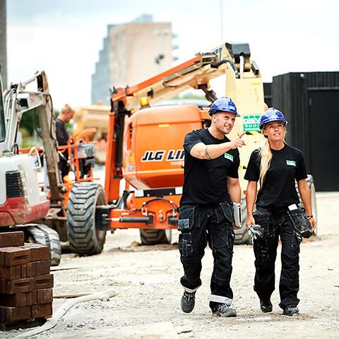 GSV tilbyder løsninger inden for udlejning af materiel og udstyr - skræddersyet til bygge/anlæg