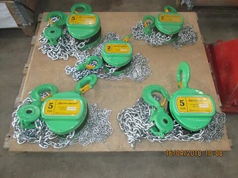 Nye kædetaljer Delta 5 ton sælges