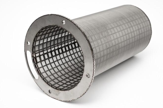 Rustfri afløbsfilter støtte ring med håndtag og støtteplade. Tilpasset udløb.