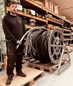 Slangetrommel til offshore vindmølleprojekt