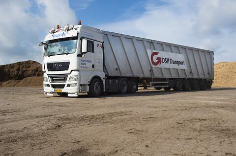 DSV Transport A/S tilbyder også volumenbiler...