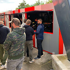 Fanzone til AaB fodbold i specialbygget container løsning fra DC-Supply A/S - Danish Container Supply