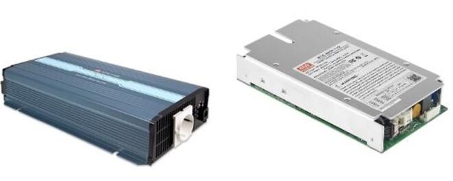 NTS-750 og NTS-250P Invertere med Sinus udgang fra MEAN WELL. Forhandler er Power Technic. Ring 70 208 210