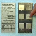 Overflate-vurdering av propell - skala for sammenlikning under vann