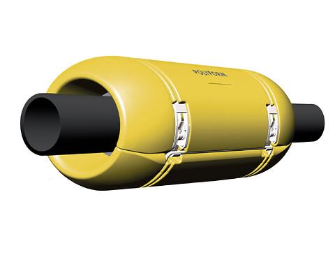 Sub Flowsafe - subsea slangeflyt fra Polyform - POlyform Sub FlowSafe hose floatation, slangeflyt til Energi og Havbruksmarkedet