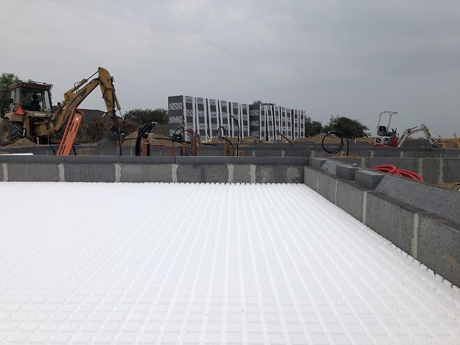 Jackon radonplade på byggeplads i Rønde