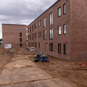 Rejsegilde på svanemærket byggeri i Kolding. Tvedvej. \nJFP Murer & Tømrer.\nFotograf: BlumePress