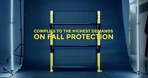Axelent fallskydd lager maskin nätväggar säkerhet