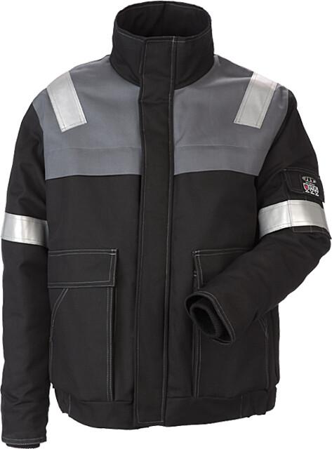 Pilotjakke, antiflame, kl. 1, 12031 - sort/grå