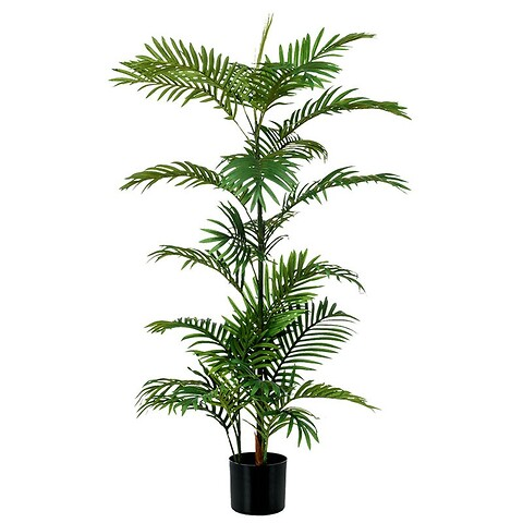 Phoenix palme i sort potte, ca. 120cm, kunstig plante