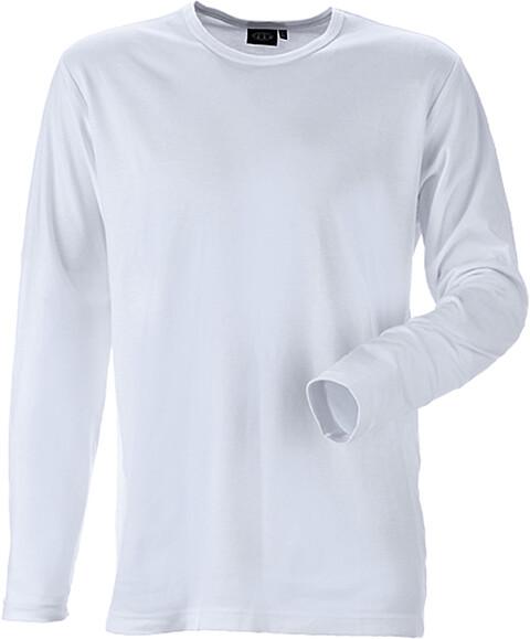 T-shirt, langærmet, hvid - 8522