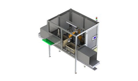 Automatisk åbning af papkasser fra Mach-Tech A/S - Automatisk åbning af papkasser fra Mach-Tech A/S
