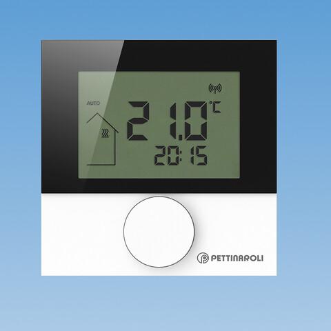 Pettinaroli Comfort digital rumtermostat A264202D - Digital rumtermostat til trådløst gulvvarmesystem. 868MHz. Passer til COMFORT-serien, 24V og 230V.