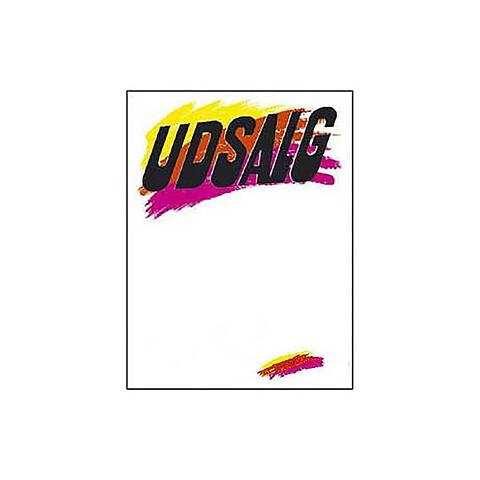 Skilte Udsalg med penselstrøg A6, 50 stk/pakke