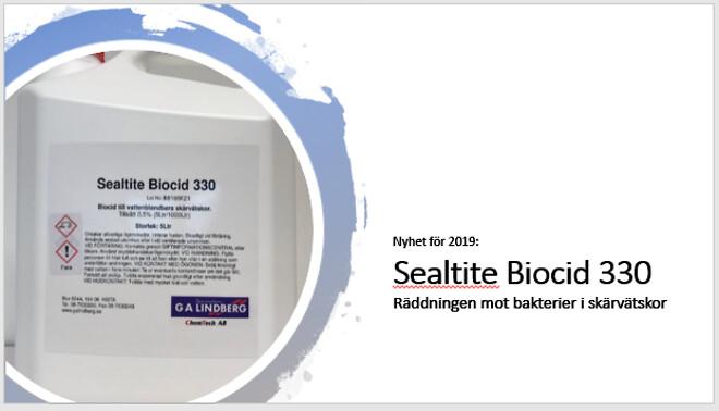 Spar dyra byten av skärvätska vid bakterieangrepp genom att använda nya Sealtite Biocod 330, en ej canceorogen baktericid!