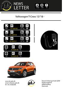 Volkswagen T Cross dragkrok för det nye T60 system från GDW
