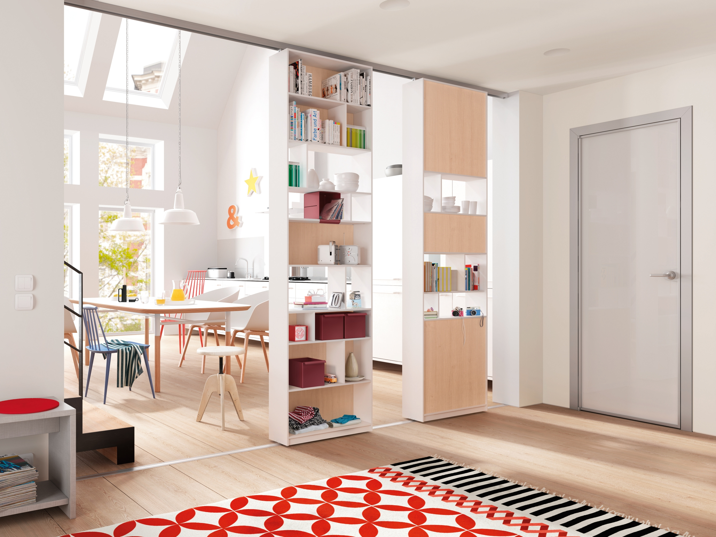 Can A Shelving Unit Be Used As A Sliding Door Nordic Design News