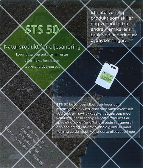 Naturprodukt for oljesanering