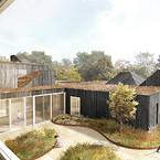 I Skovbrynet ved Hareskoven er specialinstitutionen Sofieskolen netop blevet opført. I byggeriet, som skal huse børn og unge med autisme, har arkitekten haft en klar strategi