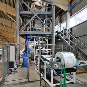 Fully automatic bigbag filling system