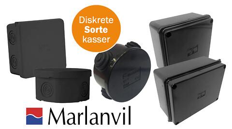 Sorte kasser til diskret, næsten usynlig installation - Sorte kasser for diskret, næsten usynlig installation