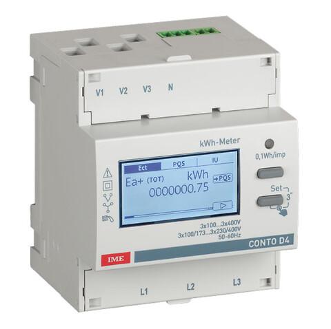 Conto D4 energimåler 5A via strømtransformer - Conto D4 energimåler