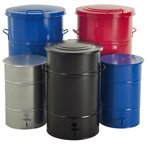 Affaldsspand i galvaniseret plademetal