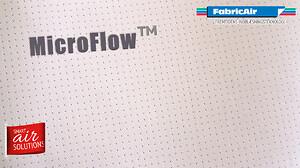 FabricAir® MicroFlow™ er et  mikroperforeret tekstil, der gør indblæsningskanaler luftteknisk vedligeholdelsesfri