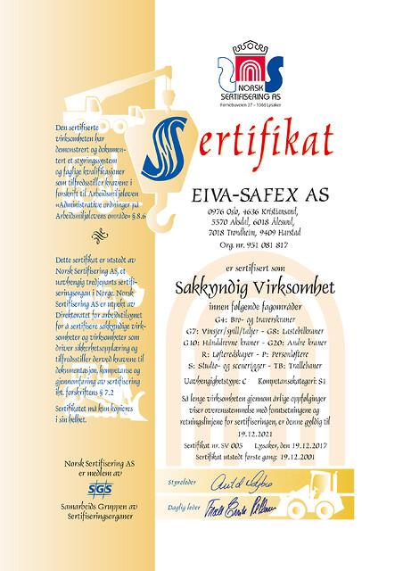 EIVA-SAFEX AS tilbyr Service og vedlikehold