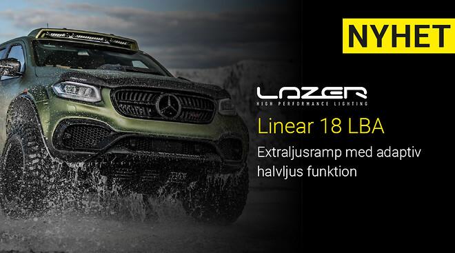 Lazer lamps Linear 18 LBA med adaptiv halvljus funktion