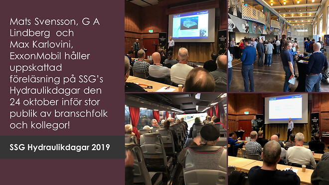 Mats & Max höll den avslutande föreläsningen på årets SSG Hydraulikdagar i Borlänge