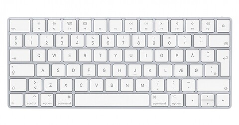 Apple Tastatur Magic Keyboard A1644 Sølv/Hvid – dansk , Wireless Keyboard