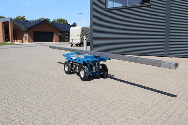 ErgoMover elektrisk transportvogn med fjernbetjent styring er ideel til lang last.